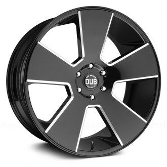 DUB® - DEL GRANDE Gloss Black with Milled Accents