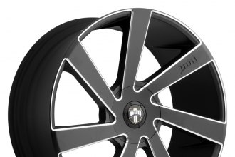 "DUB® - DIRECTA Black with Milled Accents (22"" x 9.5"", +30 Offset, 6x139.7 Bolt Pattern, 87.1mm Hub)"