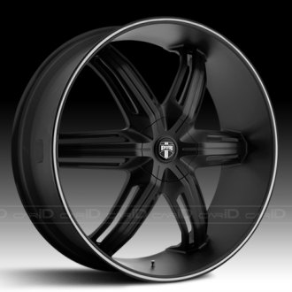 DUB� - DRONE 6 Flat Black with Machined Pinstripe