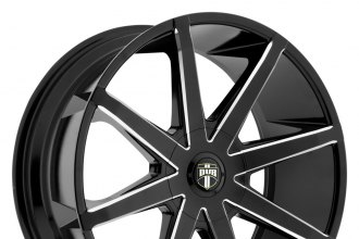 "DUB® - PUSH Black with Milled Accents (20"" x 8.5"", +10 to +30 Offsets, 6x114.3-139.7 Bolt Patterns, 72.6-108.1mm Hubs)"
