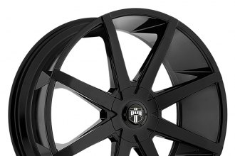 "DUB® - PUSH Gloss Black (20"" x 8.5"", +10 to +45 Offsets, 5x100-127 Bolt Patterns, 72.6-78.1mm Hubs)"