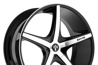 "DUB® - RIO 5 Black with Machined Face (20"" x 8.5"", +15 to +40 Offsets, 5x108-120.65 Bolt Patterns, 72.6-74.1mm Hubs)"