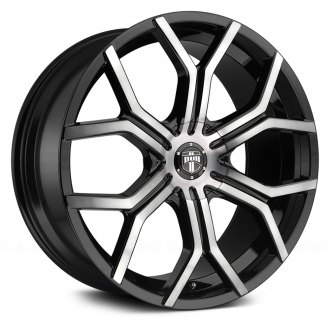 DUB® - S209 ROYALTY Matte Black with Machined Face and Double Dark Tint