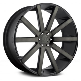 DUB® - SHOT CALLA Matte Black with Machined Face and Double Dark Tint