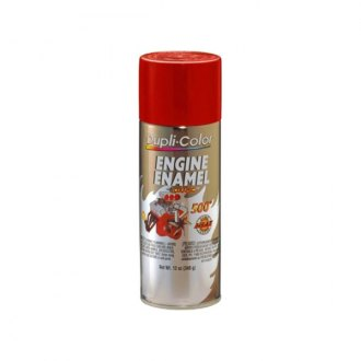 Dupli-Color® - 12 oz. Engine Ford Red Enamel Paint Contains Ceramic Resins