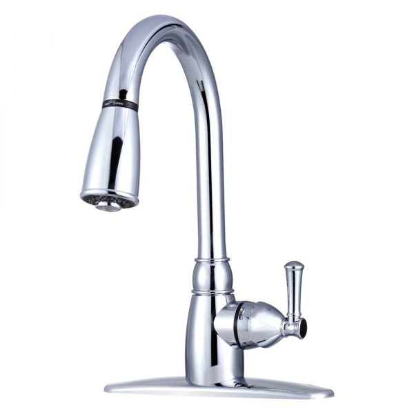 dura® - rv kitchen pull down faucet with lever - camperid