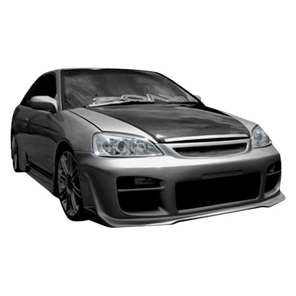 Bumper Cover Kit For 2001-2003 Honda Civic Front Left 2 Pieces