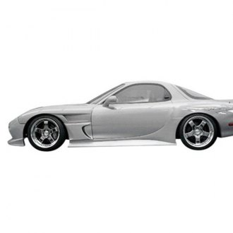 Duraflex® - Sleek Style Fiberglass Side Skirt Rocker Panels (Unpainted)