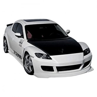 Duraflex® - Velocity Style Fiberglass Front and Rear Bumper Covers (Unpainted)