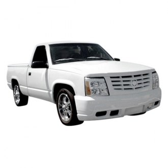 Duraflex® - Escalade Conversion Style Fiberglass Front Bumper Cover with Grille (Unpainted)