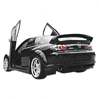 Duraflex® - R-Speed Style Fiberglass Rear Bumper Lip Under Air Dam Spoiler (Unpainted)