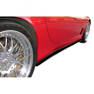 Duraflex® - Type F Style Fiberglass Side Skirt Rocker Panels (Unpainted)