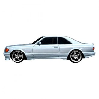 Duraflex® - AMG Style Fiberglass Wide Body Side Skirt Rocker Panels (Unpainted)