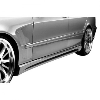 Duraflex® - W-2 Style Fiberglass Side Skirt Rocker Panels (Unpainted)