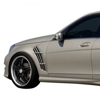 Mercedes c class replacement fenders components carid duraflex w 1 style fiberglass front fenders unpainted fandeluxe Image collections