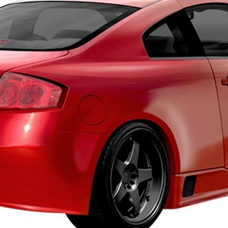 Duraflex® - GT500 Style Fiberglass Wide Body Rear Fenders (Unpainted)