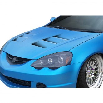 Acura RSX Custom Hoods Carbon Fiber Fiberglass CARiDcom - Acura rsx hood