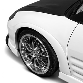 Duraflex® - Shine Style Fiberglass Front and Rear Fender Flares (Unpainted)