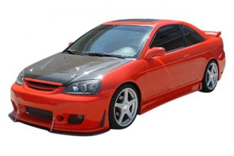 Image may not reflect your exact vehicle! Duraflex® - B-2 Style Fiberglass Side Skirts Rocker Panels (Unpainted)