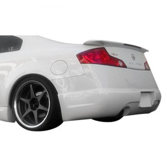 Duraflex® - I-Spec Style Fiberglass Rear Bumper Lip Under Spoiler Air Dam (Unpainted)