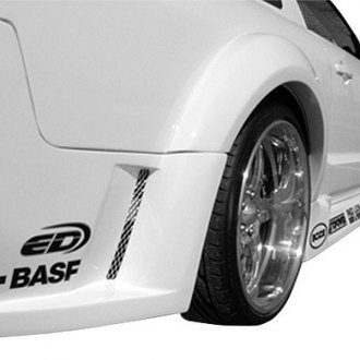 Duraflex® - Circuit Style Wide Body Rear Fender Flares (Unpainted)