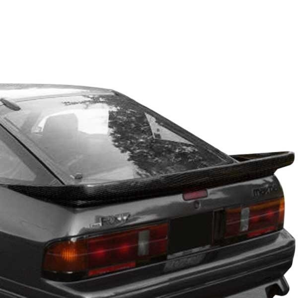 Image may not reflect your exact vehicle! Duraflex® - Wangan Style Fiberglass Rear Wing Spoiler