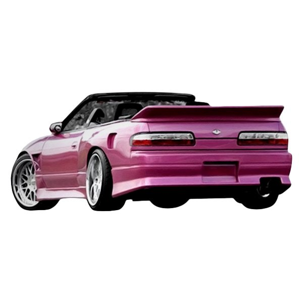 Image may not reflect your exact vehicle! Duraflex® - V-Speed Style Fiberglass Rear Bumper Cover (Unpainted)