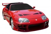 Image may not reflect your exact vehicle! Duraflex® - Bomber Style Fiberglass Front Bumper Cover (Unpainted)