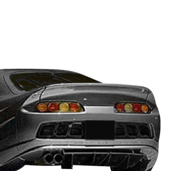 Image may not reflect your exact vehicle! Duraflex® - Conclusion Style Fiberglass Wide Body Rear Lip Spoiler (Unpainted)