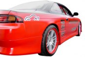 Image may not reflect your exact vehicle! Duraflex® - V-Speed Style Fiberglass Side Skirts Rocker Panels (Unpainted)