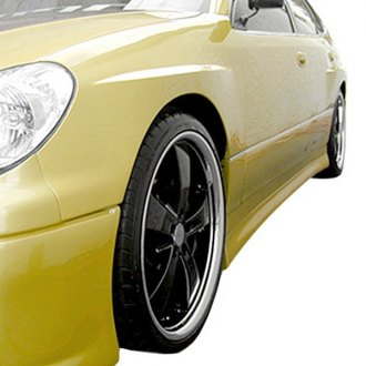 Duraflex® - Type W Style Fiberglass Side Skirts Rocker Panels (Unpainted)