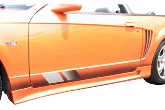 Image may not reflect your exact vehicle! Duraflex® - Colt Style Fiberglass Side Skirts Rocker Panels (Unpainted)
