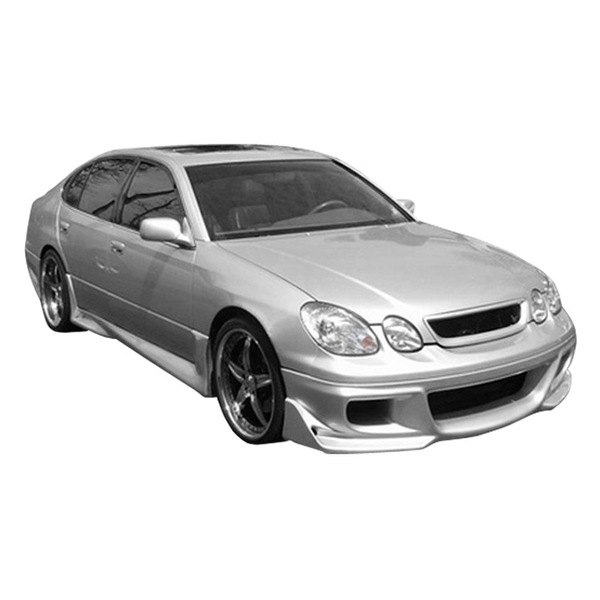 Image may not reflect your exact vehicle! Duraflex® - Cyber Style Fiberglass Front Bumper Cover (Unpainted)