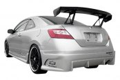 Image may not reflect your exact vehicle! Duraflex® - Raven Style Fiberglass Rear Bumper Cover (Unpainted)