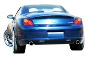 Image may not reflect your exact vehicle! Duraflex® - W-1 Style Fiberglass Rear Lip Under Spoiler Air Dam (Unpainted)