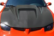 Image may not reflect your exact vehicle! Duraflex® - Spyder 3 Style Fiberglass Hood (Unpainted)