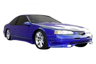 Image may not reflect your exact vehicle! Duraflex® - Racer Style Fiberglass Front Lip Under Spoiler Air Dam (Unpainted)