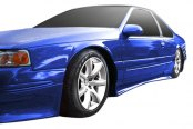 Image may not reflect your exact vehicle! Duraflex® - Racer Style Fiberglass Side Skirts Rocker Panels (Unpainted)