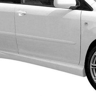 Duraflex® - W-1 Style Fiberglass Side Skirts Rocker Panels (Unpainted)