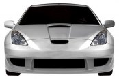 Image may not reflect your exact vehicle! Duraflex® - GT300 Style Fiberglass Wide Body Front Bumper Cover (Unpainted)