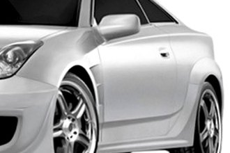 Image may not reflect your exact vehicle! Duraflex® - GT300 Style Fiberglass Wide Body Side Skirts Rocker Panels (Unpainted)