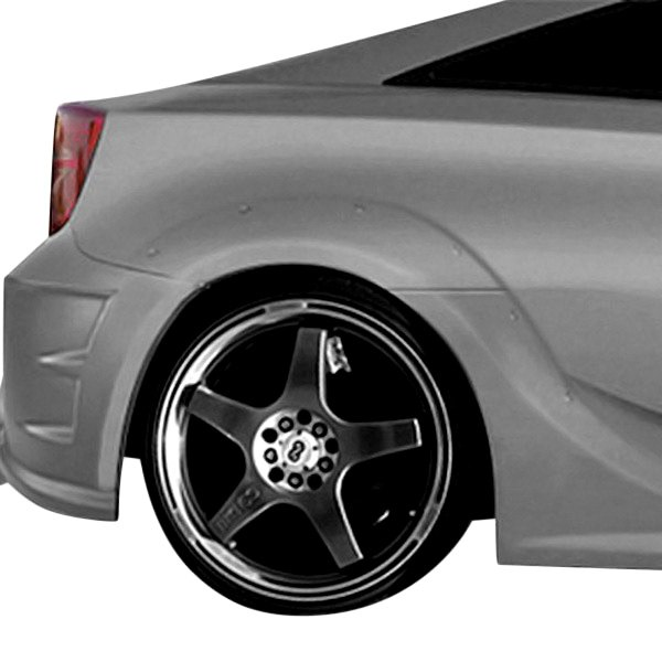 Image may not reflect your exact vehicle! Duraflex® - GT300 Style Fiberglass Wide Body Rear Fenders (Unpainted)
