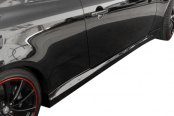 Image may not reflect your exact vehicle! Duraflex® - GT Concept Style Fiberglass Side Skirts Rocker Panels (Unpainted)