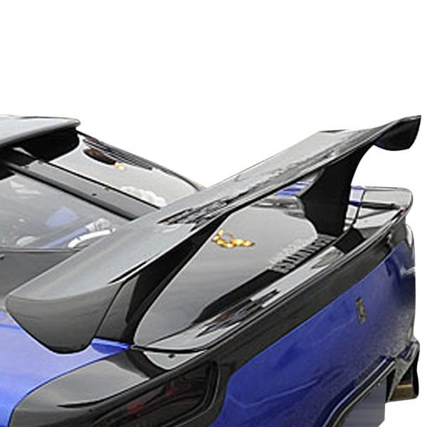 Image may not reflect your exact vehicle! Duraflex® - Vader Style Fiberglass Rear Wing Spoiler