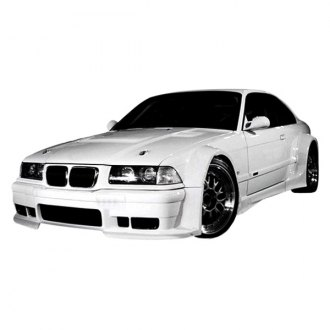 Duraflex® - GT500 Style Fiberglass Wide Body Side Skirts Rocker Panels (Unpainted)