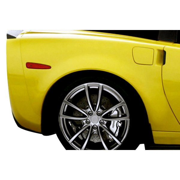 Image may not reflect your exact vehicle! Duraflex® - ZR Edition Style Fiberglass Rear Fenders (Unpainted)