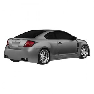 Duraflex® - Atlas Style Fiberglass Wide Body Rear Fenders with Gas Cap (Unpainted)