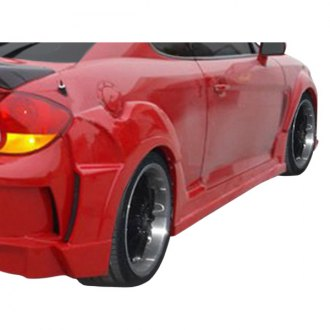 Duraflex® - Raine Style Fiberglass Wide Body Side Skirts Rocker Panels (Unpainted)