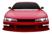Image may not reflect your exact vehicle! Duraflex® - WX-9 Style Fiberglass Front Bumper Cover (Unpainted)