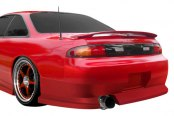 Image may not reflect your exact vehicle! Duraflex® - WX-9 Style Fiberglass Rear Bumper Cover (Unpainted)